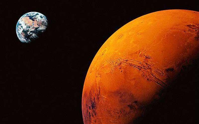 یک روز شمسی در مریخ