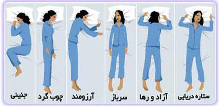 طرز خوابيدنتان چه چيزي هاي در مورد شخصيتتان مي گويد....